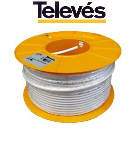 TELEVES 2128 CABLE ITED2 CXT CU/AL PVC BLANCO TELEVES